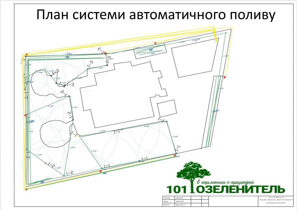 План полива об'єкта 10